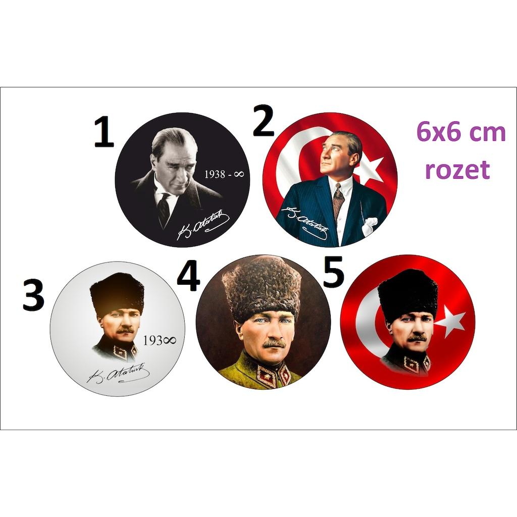 Atatürk Rozet 6x6 Cm N11com