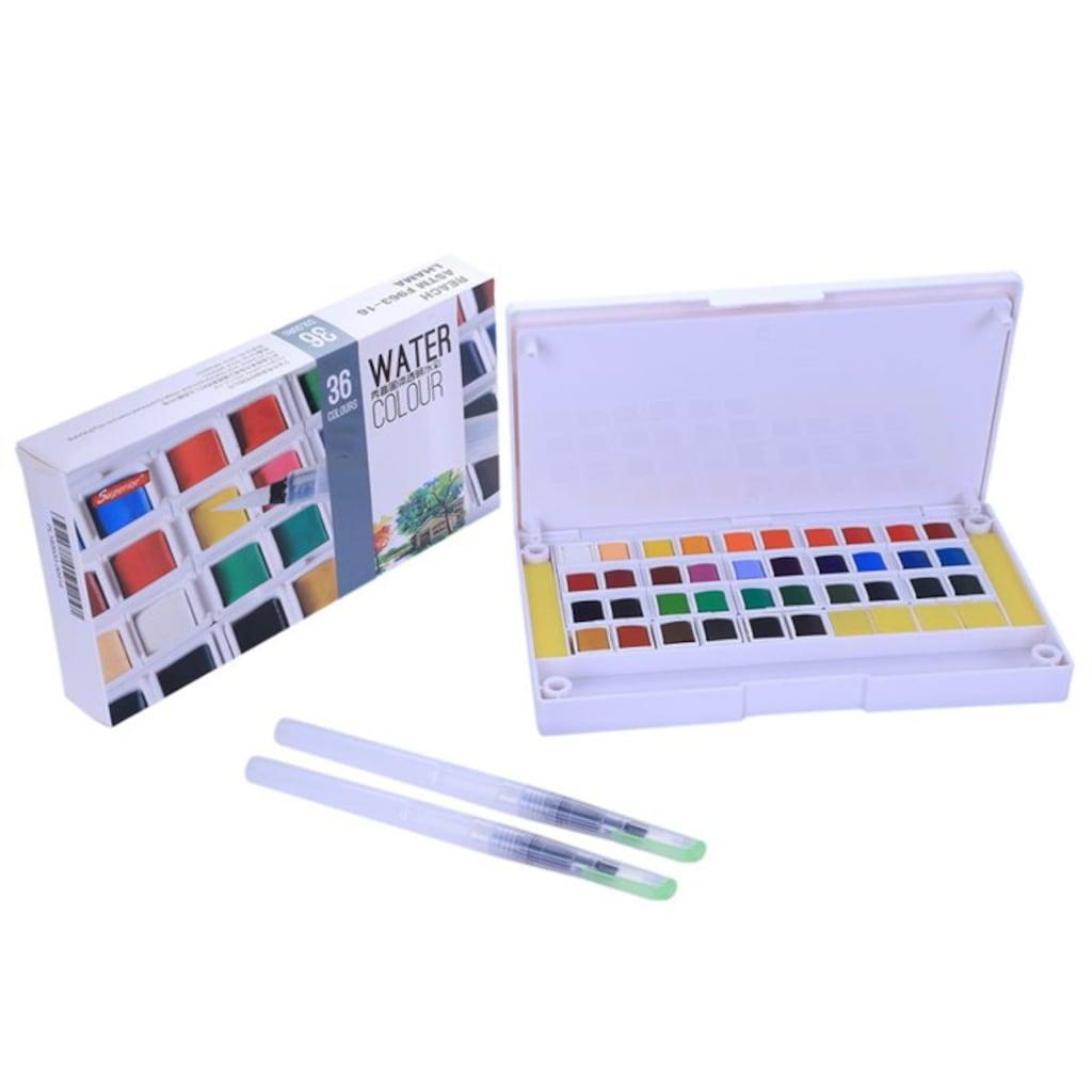 Superior Artist Tablet Sulu Boya Seti 36 Renk (Fırça Hediyeli) Fiyatları ve Özellikleri