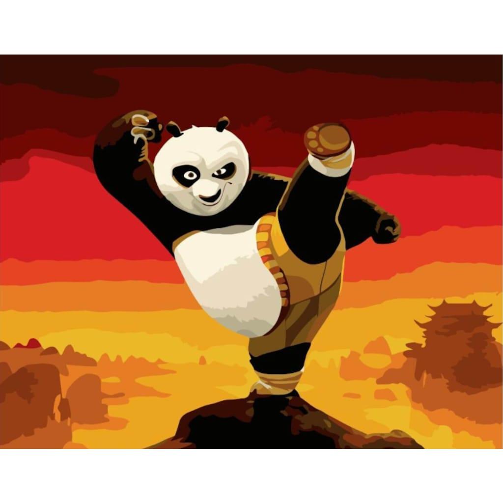 Kung Fu Panda Numaralı Boyama Seti Zorluk Seviyesi 3 N11com