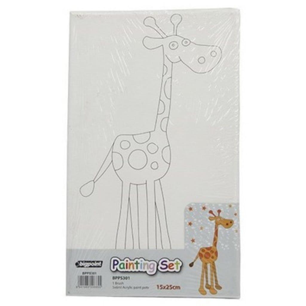 Bigpoint Hazır Boyama Seti 15x25cm Zürafa 5 Renk Boya Fırça