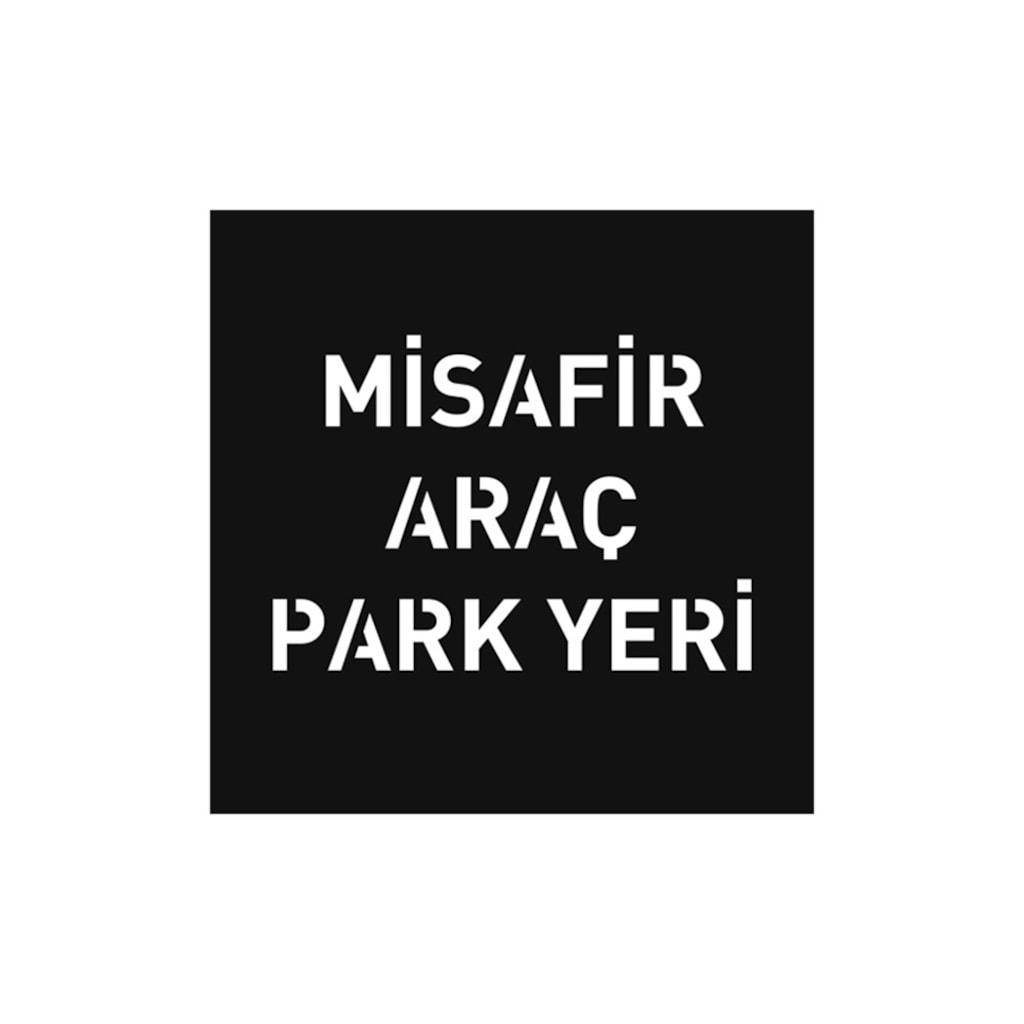 Boyama şablonu Misafir Araç Park Yeri Alüminyum 100x100cm N11com