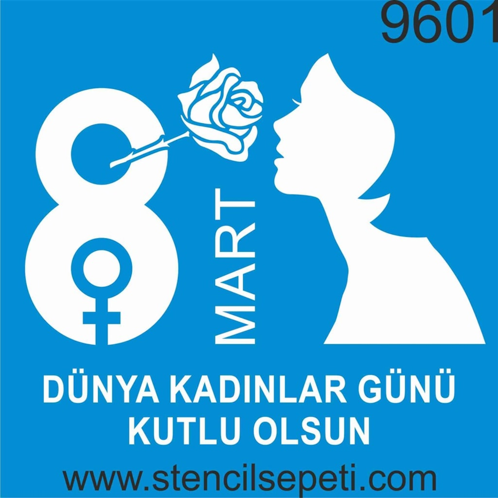 8 Mart Dünya Kadınlar Günü Stencil Ahşap Boyama şablonu N11com