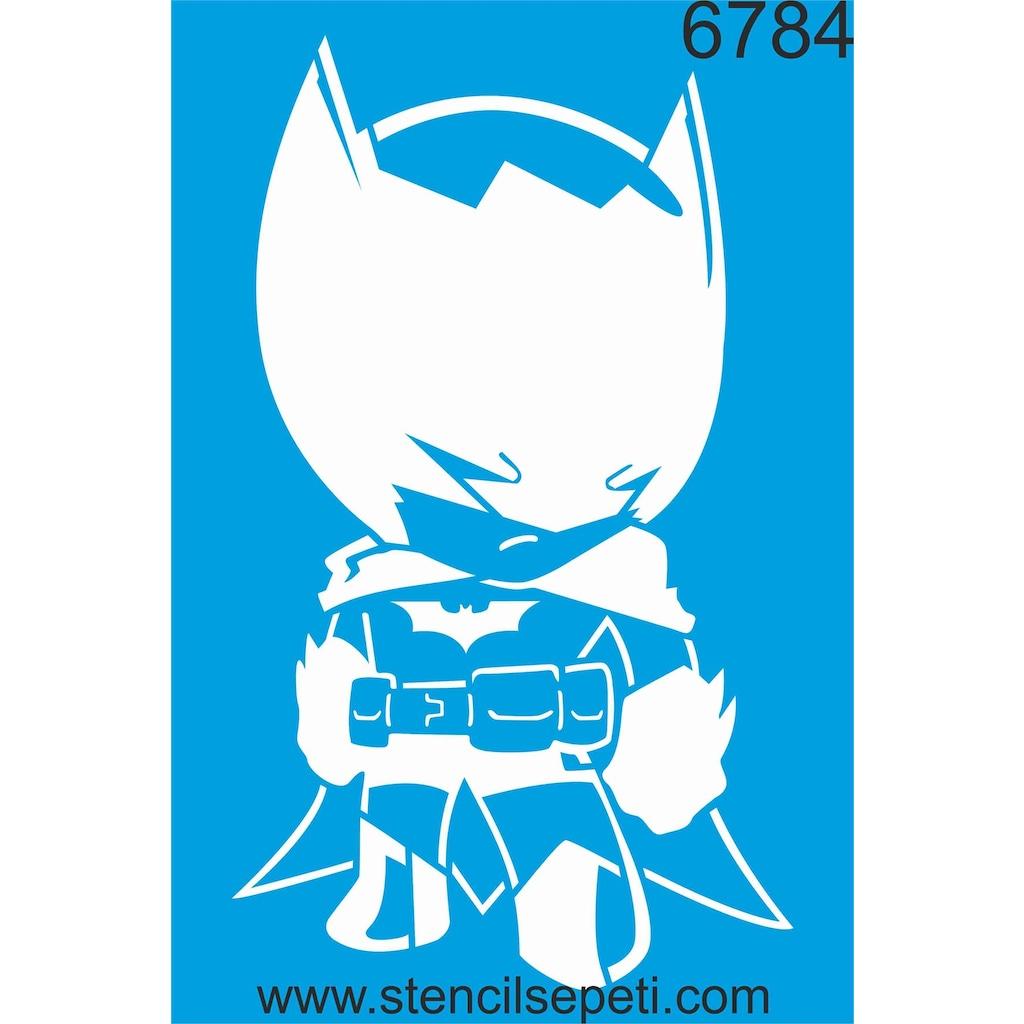 Batman Stencil Ahşap Boyama