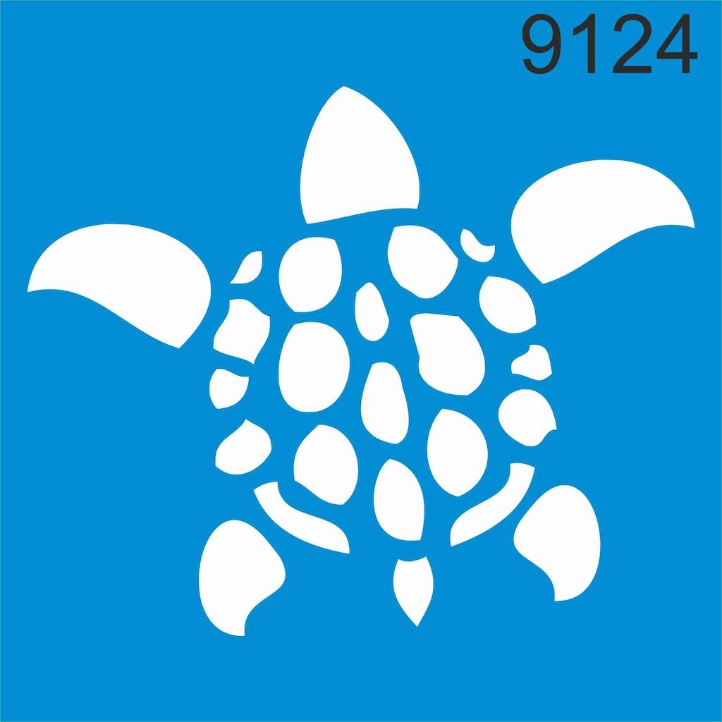 Deniz Kaplumbagasi Caretta Caretta Stencil Ahsap Boyama Sabl