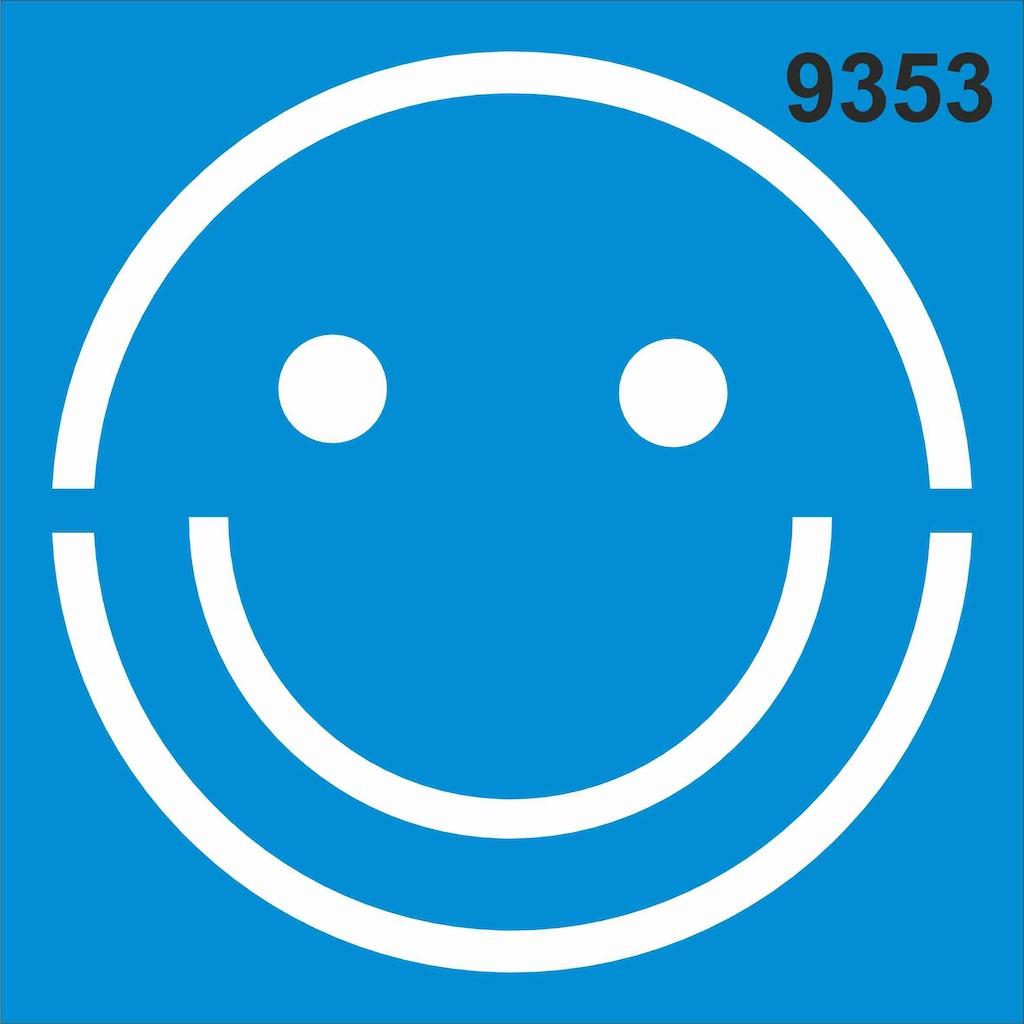 Smiley Gulen Yuz Stencil Ahsap Boyama Sablonu N11 Com