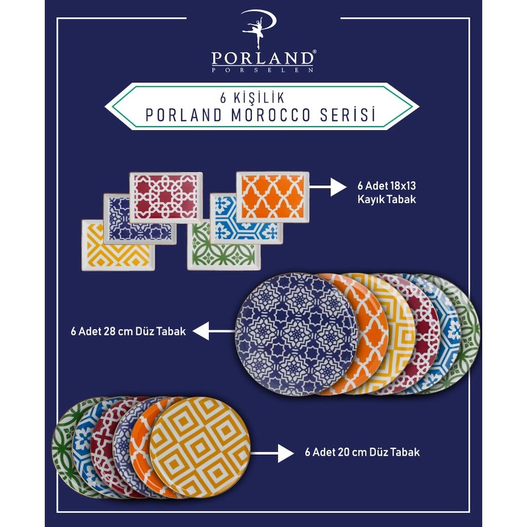 Porland Morocco Serisi 18 Parça 6 Kişilik Yemek Takımı Fiyatları ve  Özellikleri