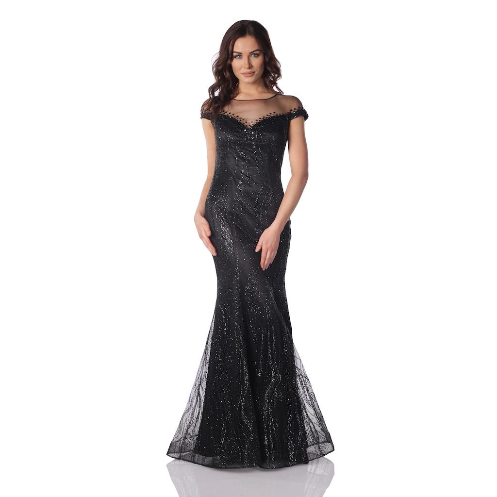 349064eb97223 Pierre Cardin Siyah Taş İşlemeli Uzun Balık Abiye Elbise - n11.com