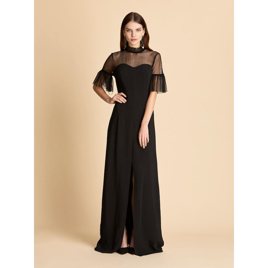 bcdfe9a61d743 Roman Kol Detaylı Siyah Abiye Elbise K1911352001 - n11.com
