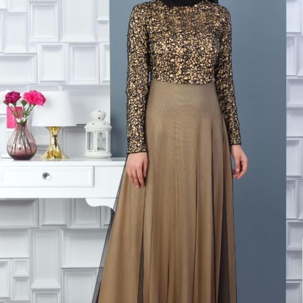 Shemall Bayan Pul Payet Isleme Tesettur Abiye Elbise Fiyatlari Ve