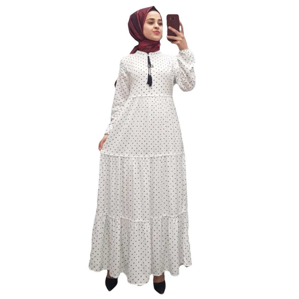 395264fd9f756 Dört Parça Puantiyeli Elbise -beyaz - n11.com