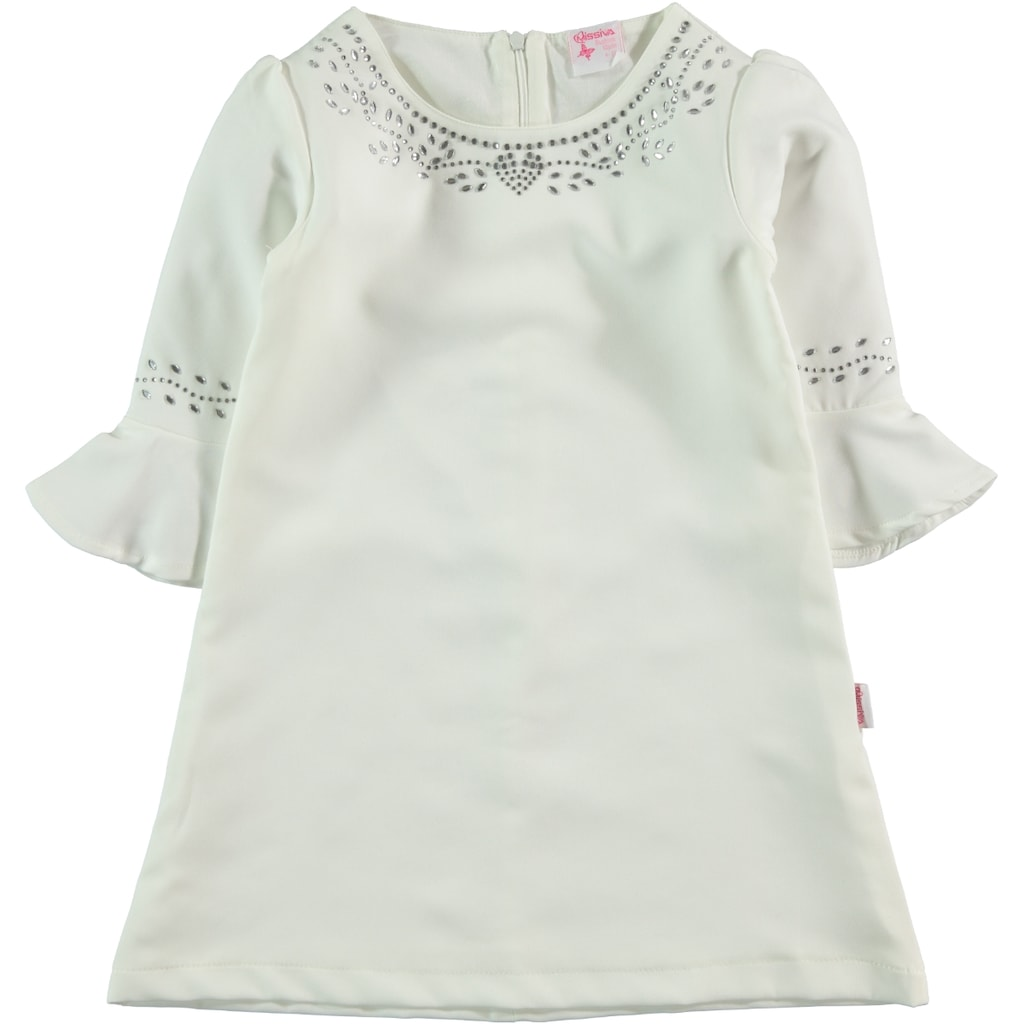 b1636f922aa42 Civil Girls Kız Çocuk Elbise 6-9 Yaş Ekru - n11.com