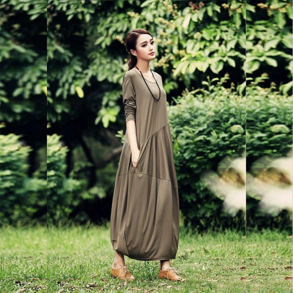 2c6d2ef11cb10 Rahat Kesim Salas Uzun Elbise - n11.com