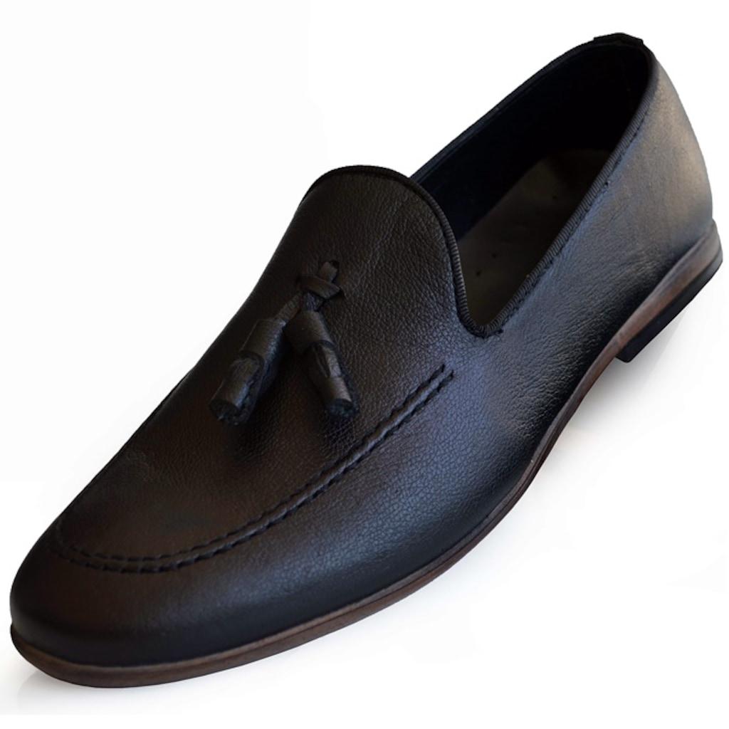 Uzi 201 Fabrikadan Halka Hakiki Deri Rok Günlük Erkek Ayakkabı