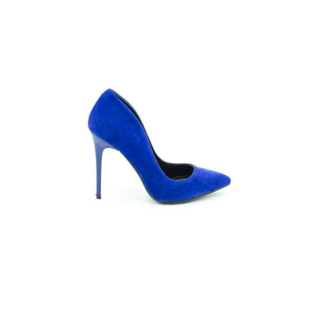 Gilda 11 Cm Topuklu Sax Mavi Suet Stiletto Ayakkabi N11 Com