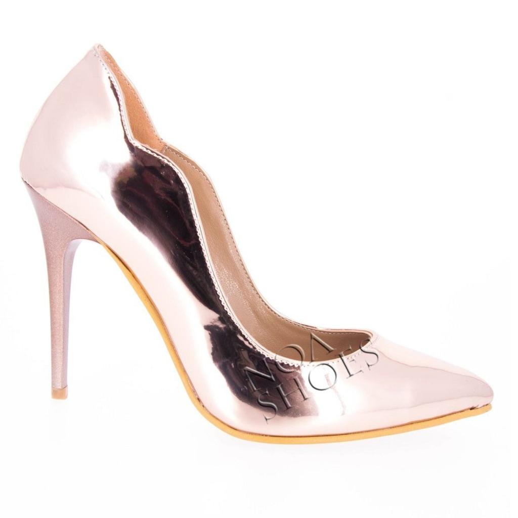 Stiletto Bakır Renk Bayan Ayna Topuklu Ayakkabı N11com