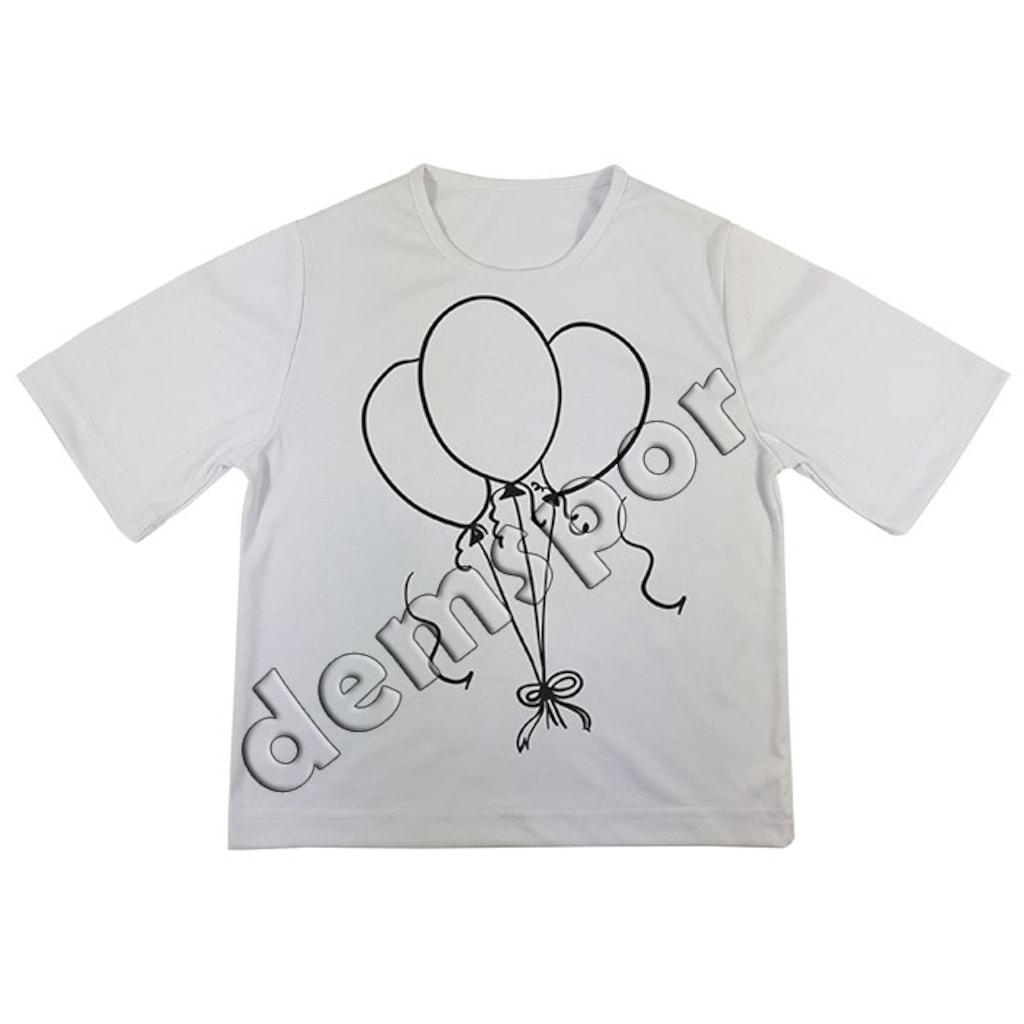 Boyama Tisortu Balon Tema 12 N11 Com