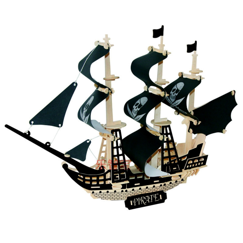 Ideal 3d Büyük Ahşap Maket Korsan Gemisi N11com
