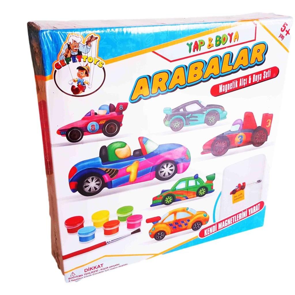 Yap Boya Arabalar Cocuk Etkinlik Kendi Magnet Arabani Olustur