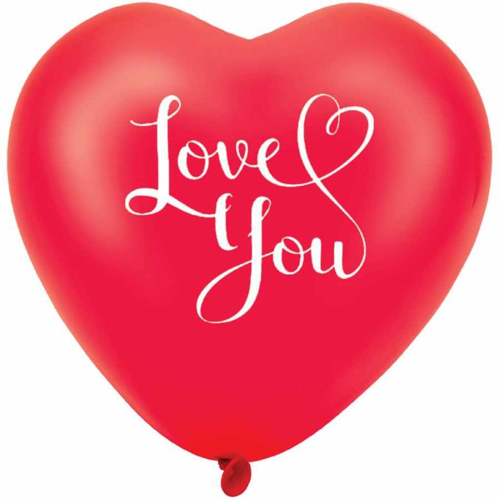 I Love You Baskili Kirmizi Kalp Balon 30cm 1 5 10 50 100 Ad N11 Com
