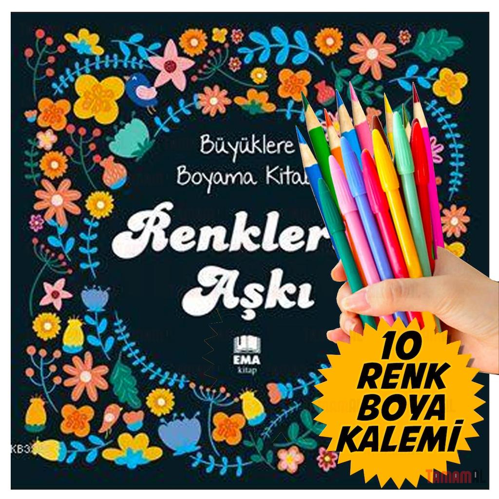 Mandala Buyukler Icin Boyama Kitabi Renkli Boya Kalem Seti N11 Com