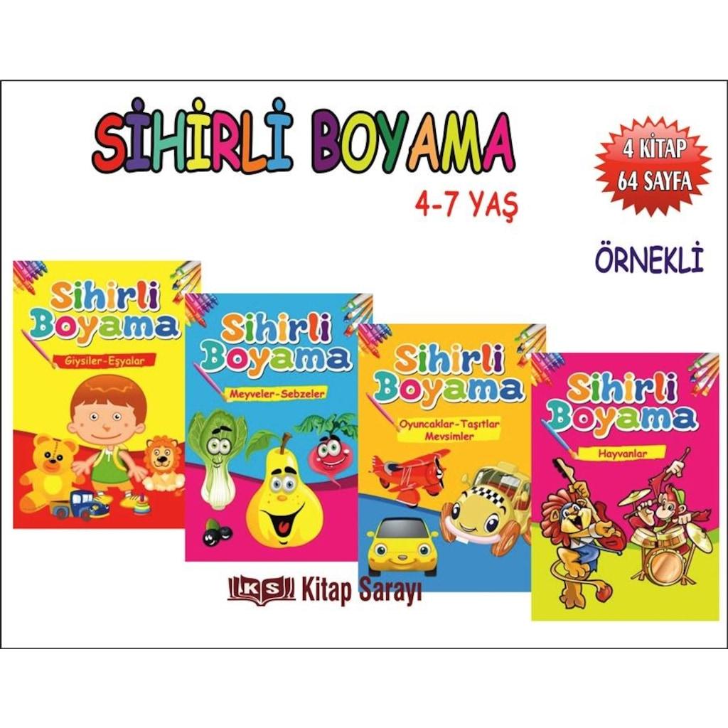 Sihirli Boyama Seti 4 Kitap Takim Ema Yayinlari N11 Com