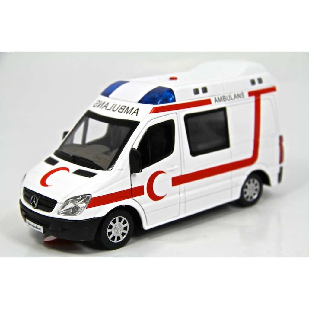 Metal Ambulans Işıklı Sesli Ambulans Araba çek Bırak N11com