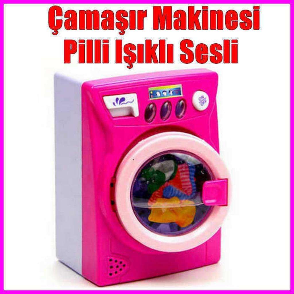 Oyuncak çamaşır Makinesi Pilli Işıklı Sesli çamaşır Makinesi Eğit