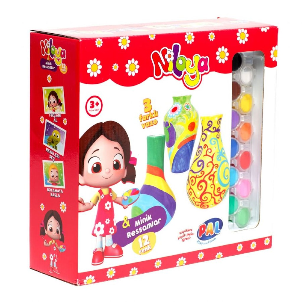 Niloya Minik Ressamlar Vazo Boyama Seti N11 Com