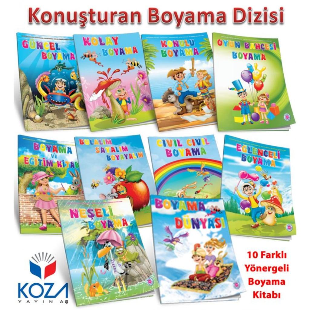 Konusturan Boyama Seti 10 Kitap Posetli 4 5 Yas N11 Com