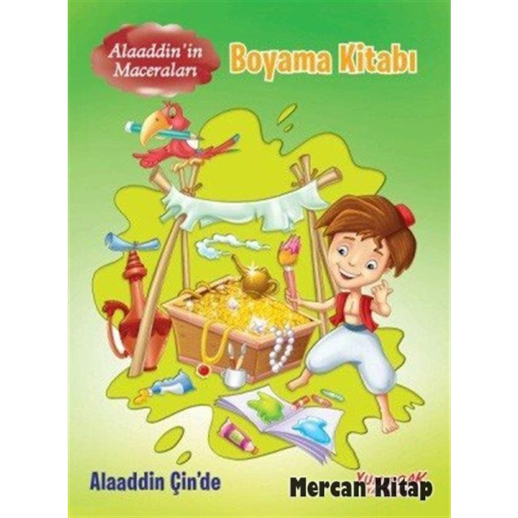 Alaaddin Cin De Alaaddin In Maceralari Boyama Kitabi Kol
