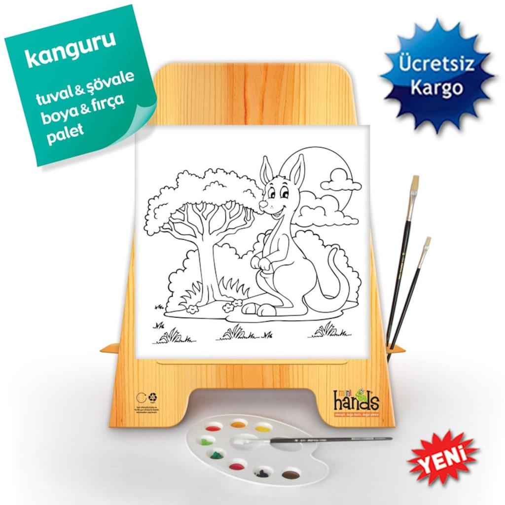 Mini Hands Boyama Tuval Set 7 Kanguru N11 Com