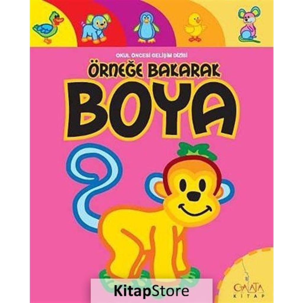 Ornege Bakarak Boya Hayvanlar 4 Maymun N11 Com