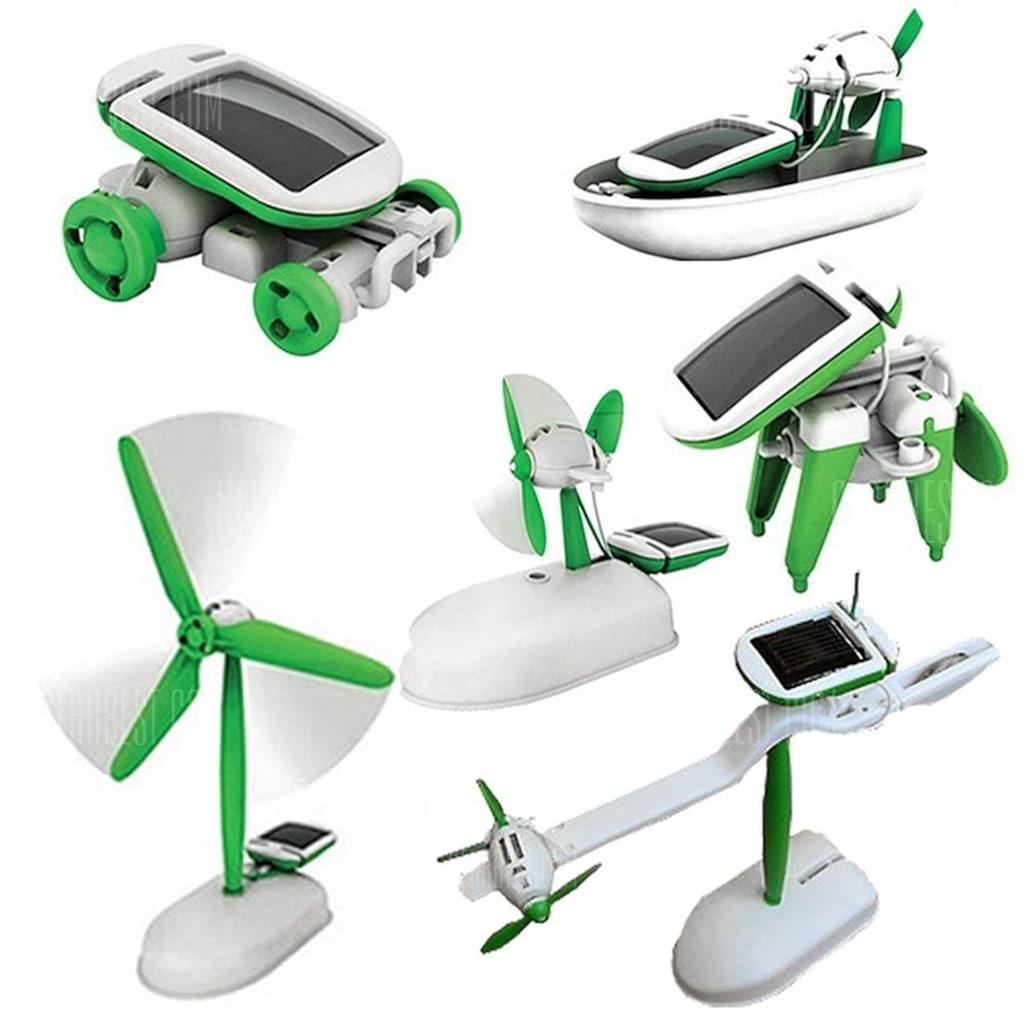 Solar Güneş Enerjili Robot Oyuncak 6 İn 1 Eğitici Solar ...