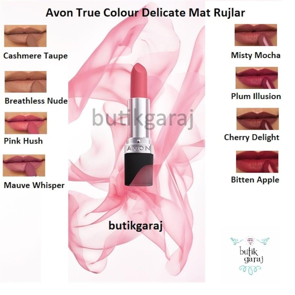 Avon True Color Delicate Mat Ruj çeşitleri N11com