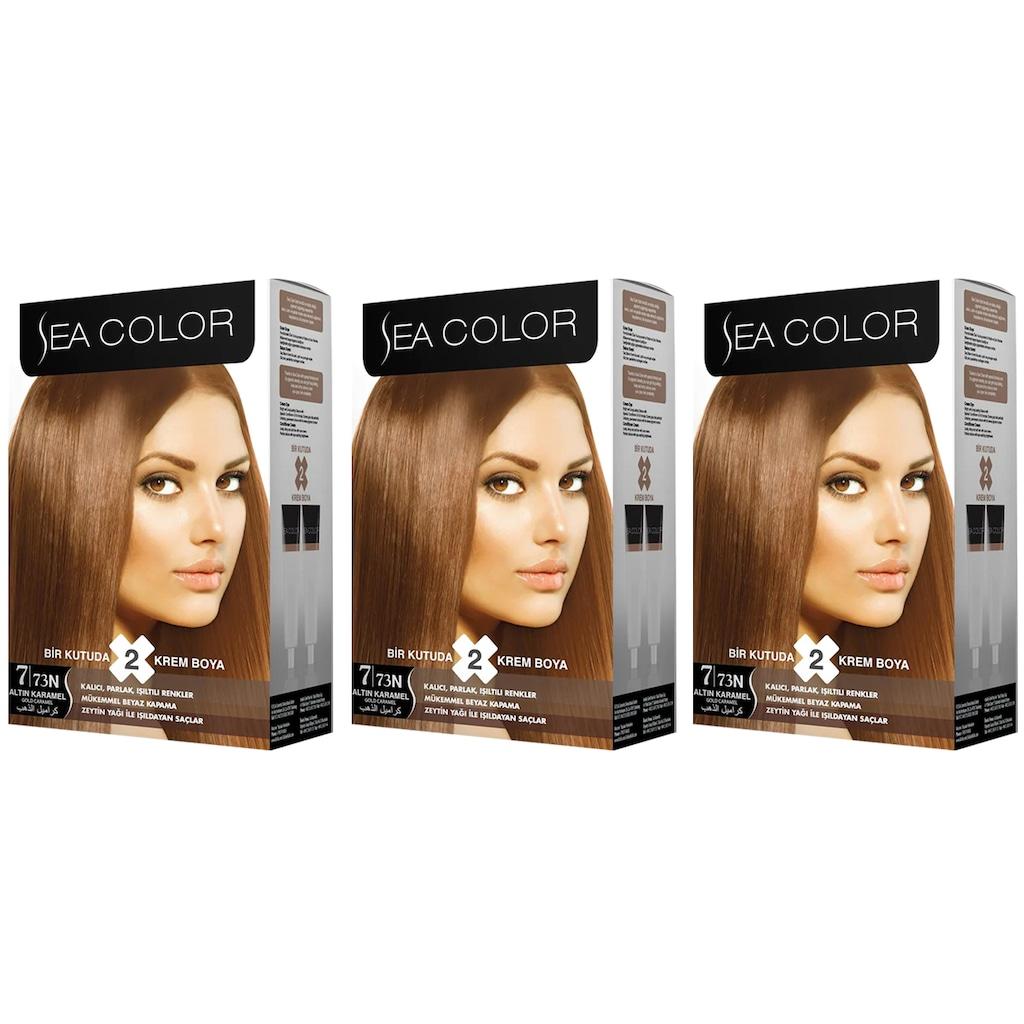 Sea Color Saç Boyası 773 Altın Karamel 5050 Ml X 3 Adet N11com