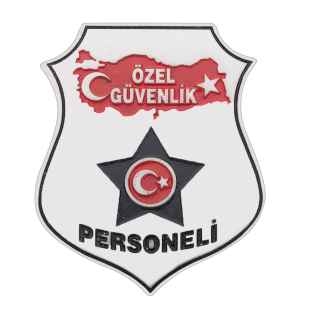 Türkiye Haritalı özel Güvenlik Kemer Rozeti N11com