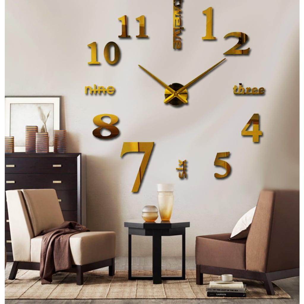 Büyük Boy Dıy Mimari Dekoratif 3d Gold Duvar Saati N11com