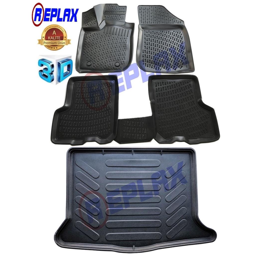 5332d923bc647 Replax Dacia Sandero Stepway 3d Paspas+3d Bagaj Havuzu İkili Set ...