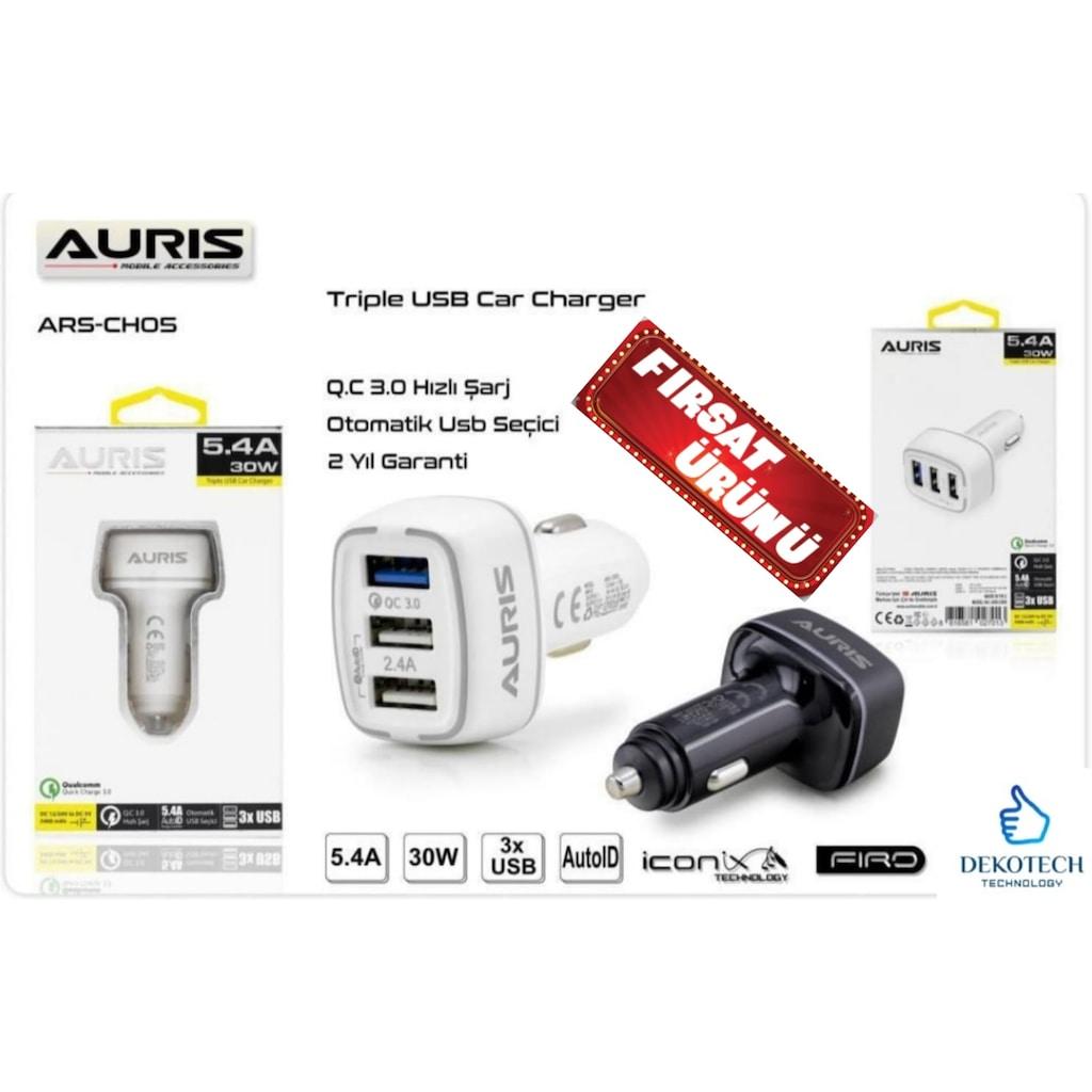 Şarj Aleti Araç Şarj Cihazı Çakmaklık Hızlı Şarj 5.4 A Oto Şarj Fiyatları  ve Özellikleri