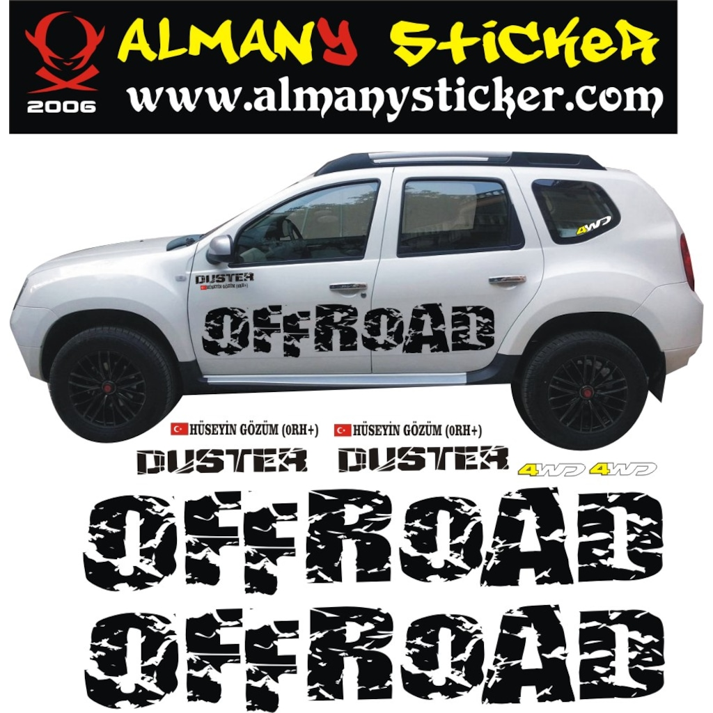 dacia duster off road sticker. Black Bedroom Furniture Sets. Home Design Ideas