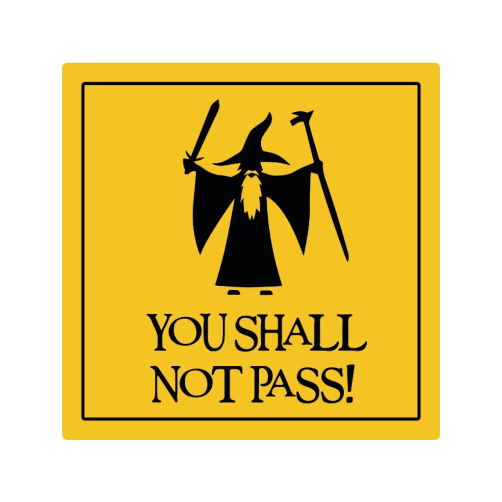 Gandalf You Shall Not Pass Sarı Ikaz Oto Sticker N11com