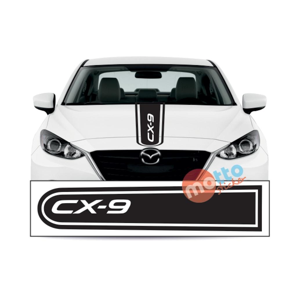 Mazda Cx 9 >> Mazda Cx 9 Logolu Otomobil On Kaput Seridi Kaput Sticker N11 Com