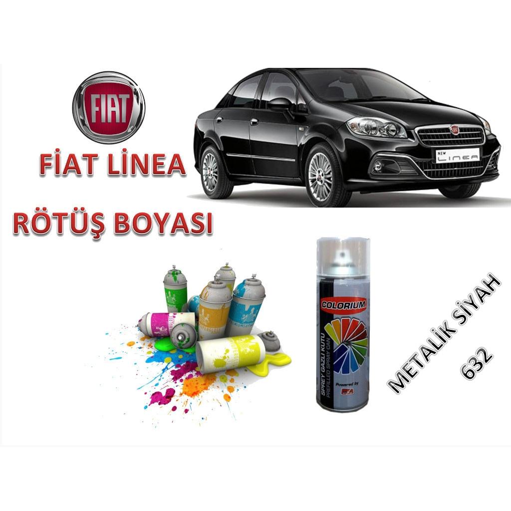 Fiat Linea Metalik Siyah Rotus Boyasi 400ml Sprey Boya Kodu 632
