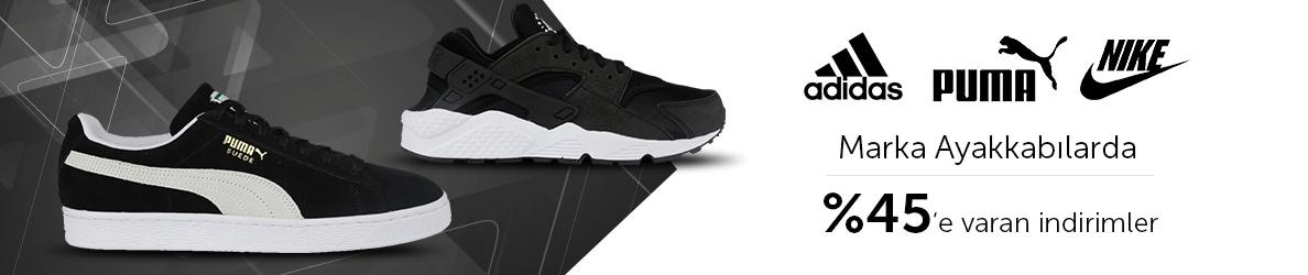 Nike,Adidas,Puma Marka Ayakkabılarda %45'e Varan İndirimler
