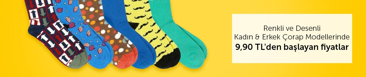 Renkli Çoraplarda Avantajlı Fiyatlar