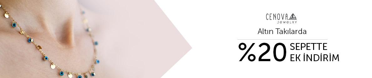 Cenova Kuyumculuk Altın Takılara Özel %20 Sepette Ek İndirim