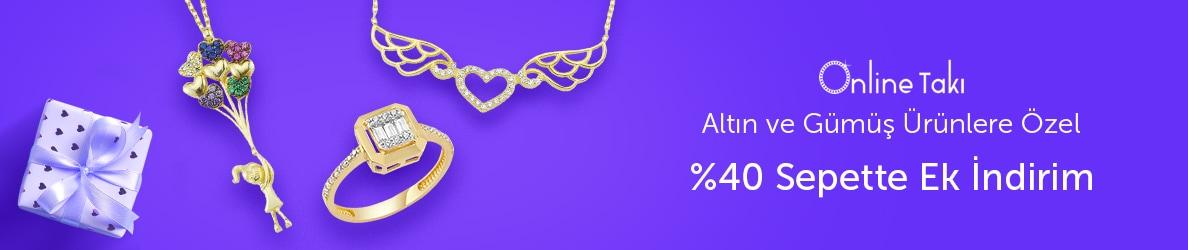 Online Takı Takılarda %40 Sepette Ek İndirim