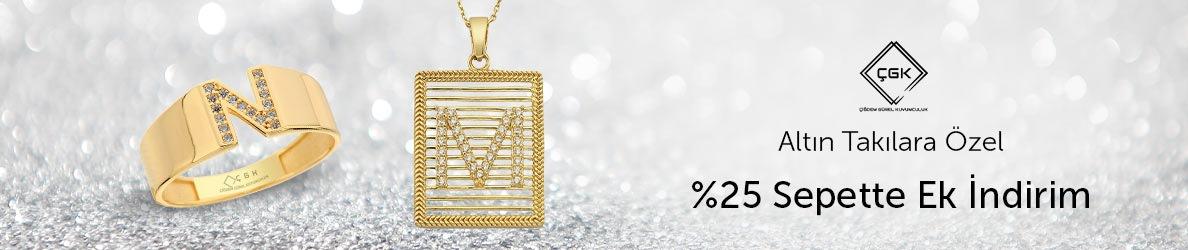 ÇGK Mücevherat Takılarda %25 Sepette Ek İndirimler