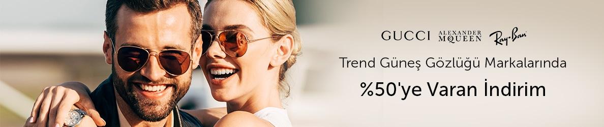 GürelOptik Kadın ve Erkek Güneş Gözlüklerinde %50'ye Varan İndirimler!