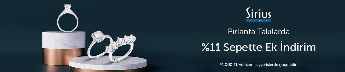 Sirius Pırlanta Takılarda %11 Sepette Ek İndirim